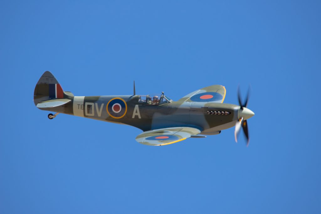 The iconic Battle of Britain hero the Supermarine Spitfire.